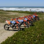 KTM dirtbikes near the ocean
